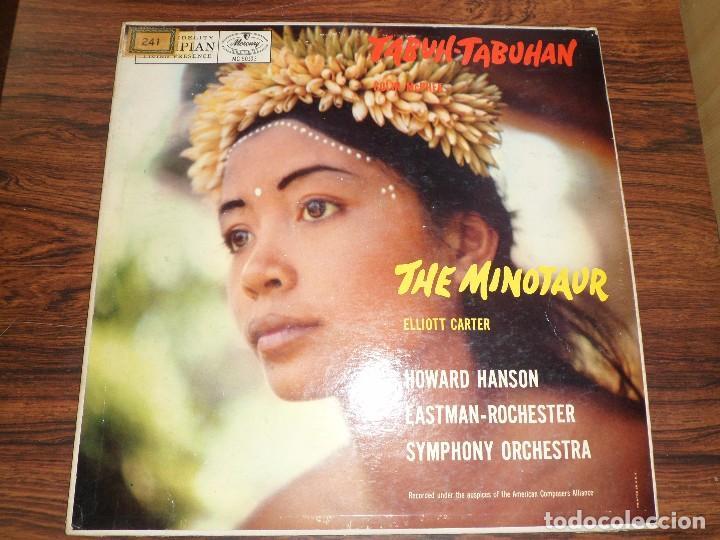LP COLIN MCPHEE. TABUH.TABUHAN / ELLIOTT CARTER. THE MINOTAUR. (Música - Discos - LP Vinilo - Otros estilos)