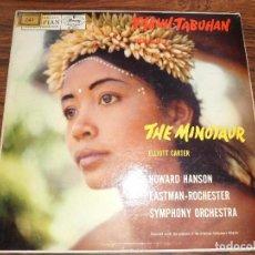Discos de vinilo: LP COLIN MCPHEE. TABUH.TABUHAN / ELLIOTT CARTER. THE MINOTAUR.. Lote 94941647