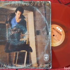 Discos de vinilo: BRUCE SPRINGSTEEN DANCING IN THE DARK MAXI SINGLE ROJO MÉXICO . Lote 94958242