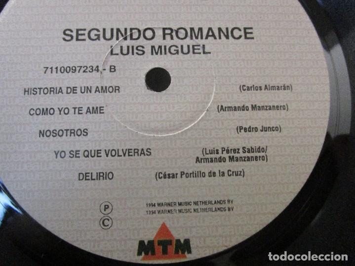 Discos de vinilo: LUIS MIGUEL SEGUNDO ROMANCE GATEFOLD 1994 COLOMBIA VINILO LP D1 VG+ MUY ESCASO - Foto 5 - 94959719