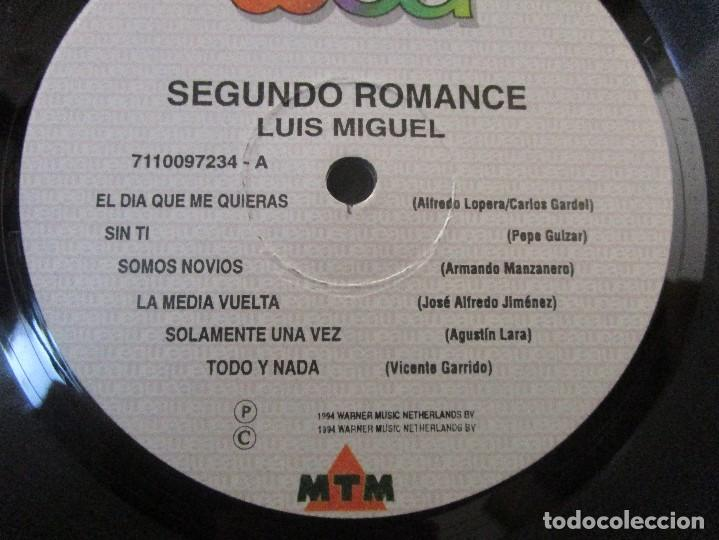 Discos de vinilo: LUIS MIGUEL SEGUNDO ROMANCE GATEFOLD 1994 COLOMBIA VINILO LP D1 VG+ MUY ESCASO - Foto 6 - 94959719