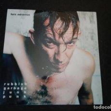 Discos de vinilo: LUIS AUSERON RUBBISH GARBAGE JUNK PUNK - LP. Lote 147842661