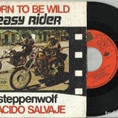 Discos de vinilo: EASY RIDER - B.S.O. - BORN TO BE WILD (STEPPENWOLF) - 1976 ESPAÑA. Lote 95013947