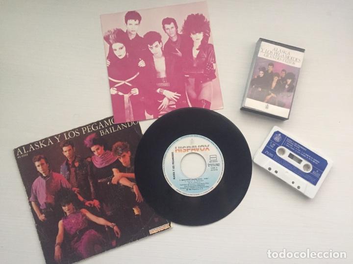 ALASKA Y LOS PEGAMOIDES - GRANDES ÉXITOS + SINGLE BAILANDO (Música - Discos - Singles Vinilo - Grupos Españoles de los 90 a la actualidad)