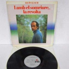 Disques de vinyle: LLUIS LLACH - I AMB EL SOMRIURE, LA REVOLTA - LP - ARIOLA 1982 GATEFOLD. Lote 95038051