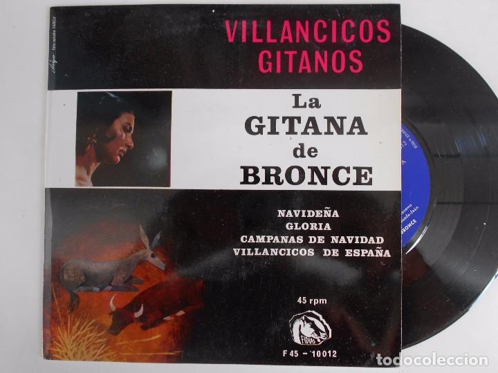 LA GITANA DE BRONCE-EP VILLANCICOS GITANOS (Música - Discos de Vinilo - EPs - Flamenco, Canción española y Cuplé)
