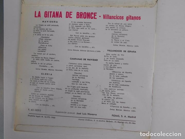 Discos de vinilo: LA GITANA DE BRONCE-EP VILLANCICOS GITANOS - Foto 2 - 95042927