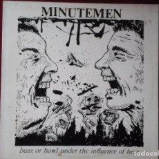 Discos de vinilo: MINUTEMEN-BUZZ OR HOWL UNDER THE INFLUENCE OF HEAT (12'' EP.SST.1983) MIKE WATT.PORTADA: R. PETTIBON. Lote 95051619