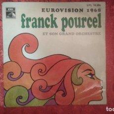 Dischi in vinile: FRANCK POURCEL * LA LA LA * CONGRATULATIONS * LA SOURCE * A CHACUN SA CHANSON * EP EUROVISION 1968. Lote 95085591
