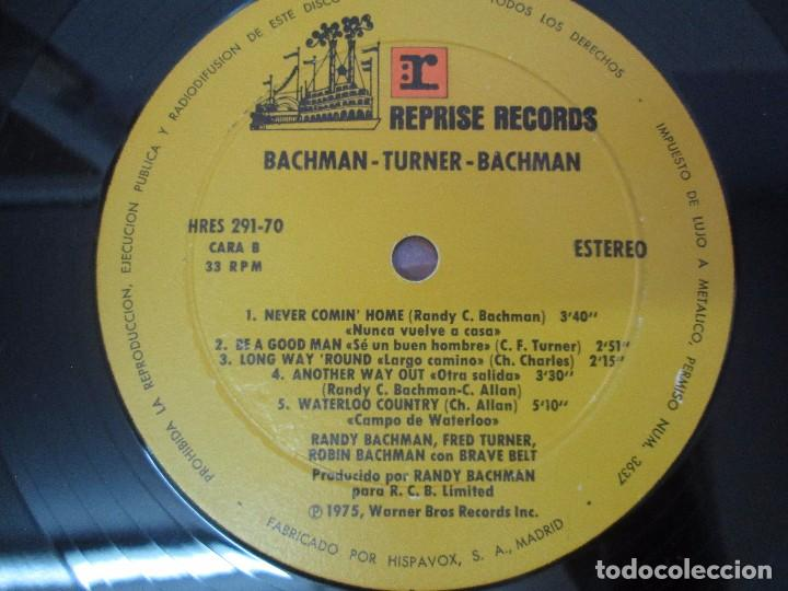 Discos de vinilo: R. BACHMAN - F. TURNER - R. BACHMAN. AS BRAVE BELT. REPRISE ALBUM. LP VINILO. HISPAVOX 1975 - Foto 6 - 95101095