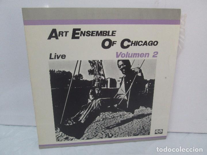 ART ENSEMBLE OF CHICAGO. LIVE. VOLUMEN 2. LP VINILO. AFFINITY AUVI. 1982. VER FOTOGRAFIAS (Música - Discos - Singles Vinilo - Jazz, Jazz-Rock, Blues y R&B)