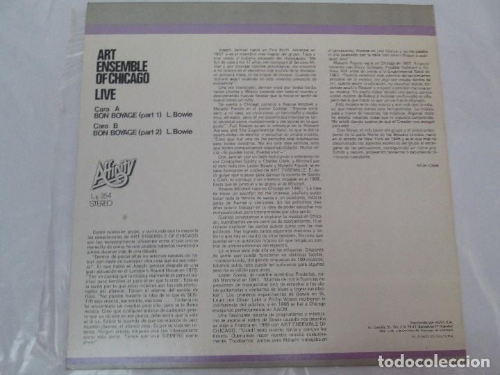 Discos de vinilo: ART ENSEMBLE OF CHICAGO. LIVE. VOLUMEN 2. LP VINILO. AFFINITY AUVI. 1982. VER FOTOGRAFIAS - Foto 7 - 95101995