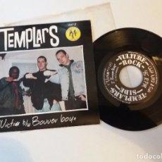 Discos de vinilo: TEMPLARS / OXBLOOD - POWERFIST EP 7'' - 1ERA EDICIÓN AÑO 1994 - SKINS USA VULTURE RECORDS. Lote 95159639