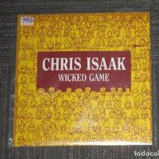 Discos de vinilo: CHRIS ISAAK - WICKED GAME - SINGLE - PROMOCIONAL - WEA RECORDS - SPAIN - IBL - . Lote 95160339