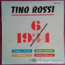 Discos de vinilo: TINO ROSSI – 1934 - 1964 - EP COLUMBIA FRANCE 1967. Lote 95163359