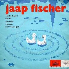 Discos de vinilo: JAAP FISCHER – SAMBA 2 APRIL - EP PURPLE LABEL, NETHERLANDS 1962. Lote 95176423