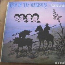 Discos de vinilo: ECOS DE LAS MARISMAS - CAMINANDO - LP FONOMUSIC 1985. Lote 95178687