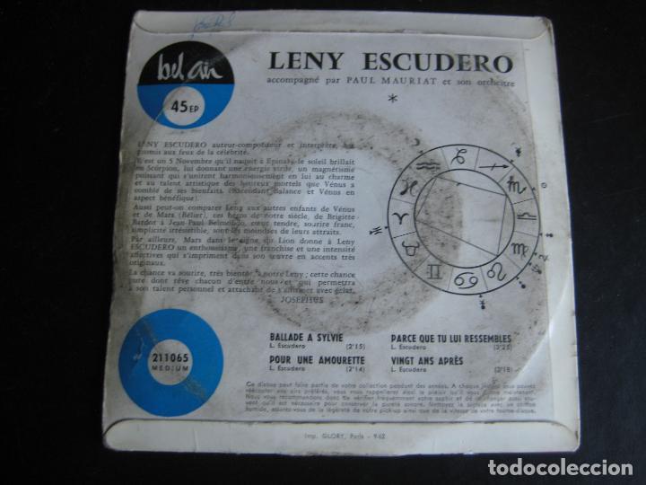Discos de vinilo: LENY ESCUDERO EP BEL AIR ballade a sylvie +3 EDICION FRANCESA - Foto 2 - 95211267