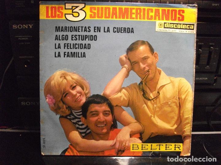 LOS 3 SUDAMERICANOS - MARIONETAS EN LA CUERDA EP 4 TEMAS 1967 (Música - Discos de Vinilo - EPs - Grupos Españoles 50 y 60)