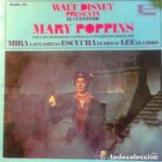 Discos de vinilo: WALT DISNEY CUENTO DE MARY POPPINS SINGLE Y LIBRETO CUENTO. Lote 95222991