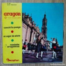 Discos de vinilo: ENVÍO GRATIS. ARAGÓN Y SU FOLKLORE. CONCHITA PUEYO, EL ZAGAL DE OLIETE.. Lote 95231015