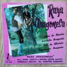 Discos de vinilo: ENVÍO GRATIS. RAZA ARAGONESA. JOTAS DE ARAGÓN.. Lote 95231067