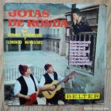 Discos de vinilo: ENVÍO GRATIS. JOTAS DE ARAGÓN DE RONDA. GENARO DOMÍNGUEZ Y LORENZO NAVASCUÉS. Lote 95231187