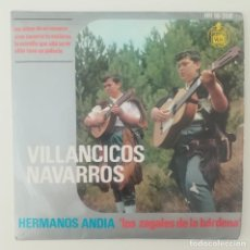 Discos de vinilo: ENVÍO GRATIS. HERMANOS ANDÍA, LOS ZAGALES DE LA BARDENA. VILLANCICOS DE NAVARRA. . Lote 95231591
