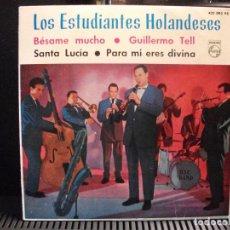 Discos de vinilo: LOS ESTUDIANTES HOLANDESES BESAME MUCHO + 3 EP SPAIN 1963 PDELUXE. Lote 95234419