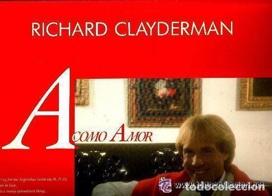 RICHARD CLAYDERMAN LP 1991 A COMO AMOR (Música - Discos - LP Vinilo - Clásica, Ópera, Zarzuela y Marchas)