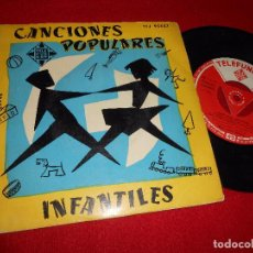 Discos de vinilo: CANCIONES POPULARES INFANTILES MATILDE SALVADOR+A.DEL REY+ASENSIO+IBARBOUROU EP 195? ESPAÑA. Lote 95259067