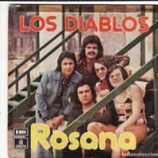 Discos de vinilo: SINGLE, VINILO, LOS DIABLOS. ROSANA. LUNA DE MIEL.. Lote 95267127