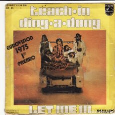 Discos de vinilo: SINGLE, VINILO, TEACH-IN. DING A DONG. LET ME IN. 2X1. Lote 104000370