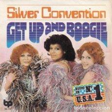 Discos de vinilo: SILVER CONVENTION - GET UP AND BOOGIE - SINGLE ESPAÑOL DE VINILO. Lote 95272291