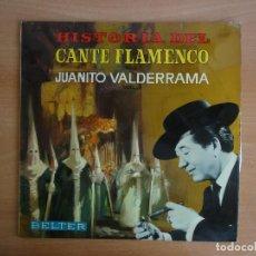 Discos de vinilo: LP VINILO. JUANITO VALDERRAMA - HISTORIA DEL CANTE FLAMENCO VOL III - (BELTER 1968). Lote 95278927