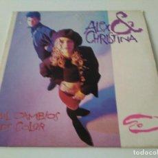 Discos de vinilo: ALEX Y CRISTINA - MIL CAMBIOS DE COLOR. Lote 95286731
