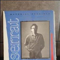 Discos de vinilo: MATERIAL SENSIBLE, SERRAT. Lote 95290099