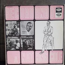 Discos de vinilo: RECORDANDO A NAT KING COLE. Lote 95290599
