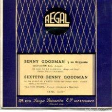 Discos de vinilo: BENNY GOODMAN / TEMPTTAION RAG + 3 (EP 1958). Lote 95297703