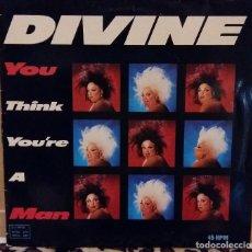 Discos de vinilo: DIVINE MAXI SINGLE YOU THINK YOU'RE A MAN 1984 EDICION ALEMANIA IDOLO DE ALASKA. Lote 95325071