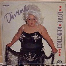Discos de vinilo: DIVINE MAXI SINGLE LOVE REACTION 1983 EDICION HOLANDA IDOLO DE ALASKA. Lote 95325311