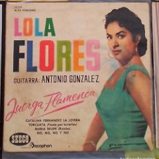 Discos de vinilo: SINGLE LOLA FLORES MI JUERGA FLAMENCA. Lote 95329655