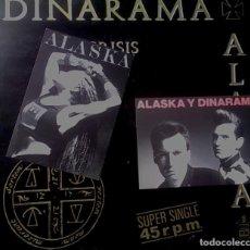 Discos de vinilo: DINARAMA + ALASKA - CRISIS (MAXI-SINGLE 1983) INCLUYE 2 POSTALES PROMOCIONALES. Lote 95336311