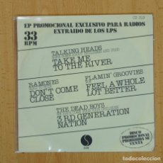 Discos de vinilo: TALKING HEADS / RAMONES / FLAMIN GROOVIES / DEAD BOYS - TAKE ME TO THE RIVER + 3 - EP. Lote 95366876