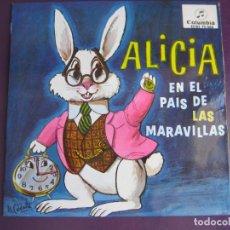 Discos de vinilo: ALICIA EN EL PAIS DE LAS MARAVILLAS SG COLUMBIA - CUENTOS - LEWIS CARROLL. Lote 95367307