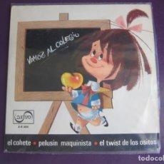 Discos de vinilo: LA FAMILIA TELERIN EP ZAFIRO 1965 - LOS CHAVALITOS TV - VAMOS AL COLEGIO +3 - TVE TELEVISION - MORO. Lote 95367411