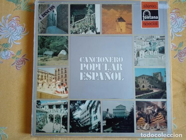 LP - CANCIONERO POPULAR ESPAÑOL - VARIOS (CAJA CON 4 LP'S Y LIBRETO, SPAIN, FONTANA 1972) (Música - Discos - LP Vinilo - Otros estilos)