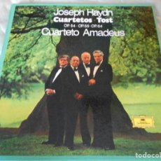 Discos de vinilo: JOSEPH HAYDN. CUARTETOS TOST. OP. 54 - OP. 55 - OP. 64. CUARTETO AMADEUS. DEUTSCHE GRAMMOPHON. CAJA. Lote 95371767