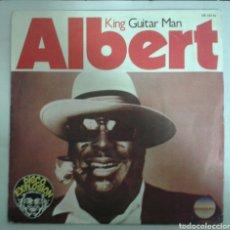 Discos de vinilo: ALBERT KING. GUITAR MAN / RUB MY BACK. SINGLE PROMOCIONAL. RCA 1977. PROMO.. Lote 95373840