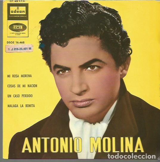 ANTONIO MOLINA EP SELLO EMI-ODEON AÑO AÑO 1962 EDITADO EN ESPAÑA (Música - Discos - Singles Vinilo - Flamenco, Canción española y Cuplé)